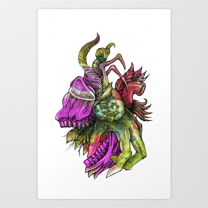Anatomy Bouquet Art Print