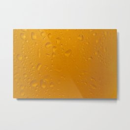 Beer glass macro orange drops Metal Print