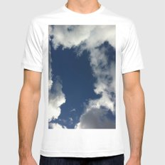 Up Above MEDIUM Mens Fitted Tee White