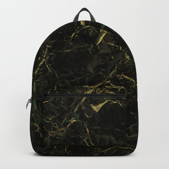 Dark Marble - Abstract, textured, black and gold marble Backpack