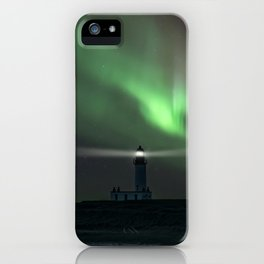When the northern light appears iPhone Case