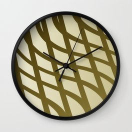 Sepia swing lines Wall Clock