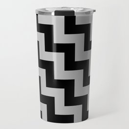 Black and Gray Steps LTR Travel Mug