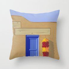 Adobe Wall Right Throw Pillow