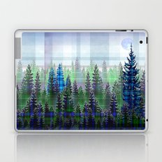 Nature Reflected Plaid Pine Forest Laptop & iPad Skin