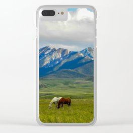 Horses of the Misson Creek Ranch Graze Clear iPhone Case