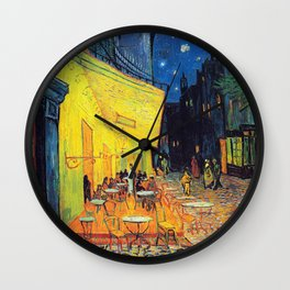Vincent Van Gogh - Cafe Terrace at Night (new color edit) Wall Clock