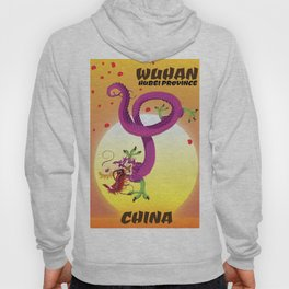 Wuhan Hubei province travel poster Hoody