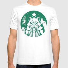 Starfox Coffee LARGE White Mens Fitted Tee