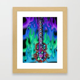 Fusion Keyblade Guitar #195 - Eternal Flame & Mirage Split Reaility Shift Framed Art Print