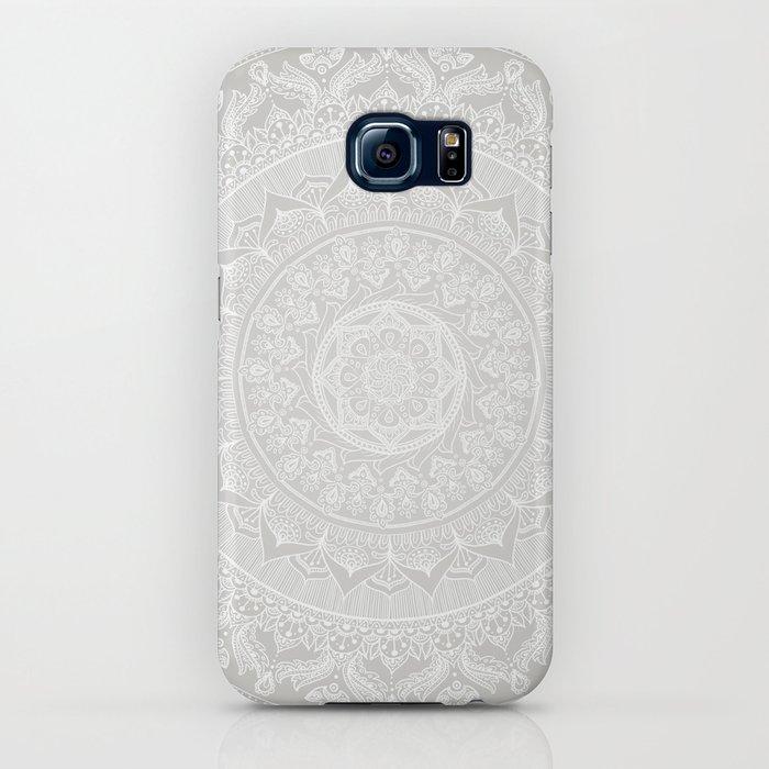 Mandala Soft Gray iPhone Case