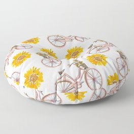 Sunflowers and Bikes! Floor Pillow