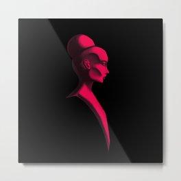 Red Cameo Metal Print
