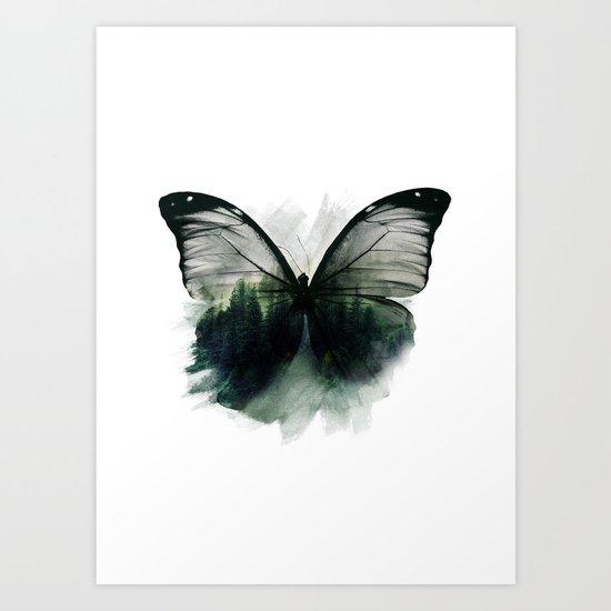 Double Butterfly Art Print