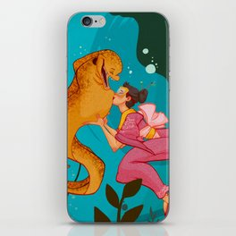 A girl and her eel iPhone Skin