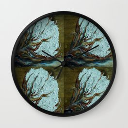 Four Square Cotton Wall Clock