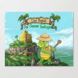 The Adventures of Mr. Turtle Canvas Print