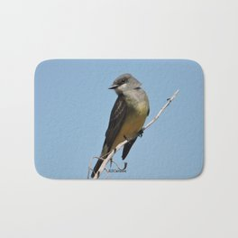 A Cassin's Kingbird Scopes the Skies for Flies Bath Mat