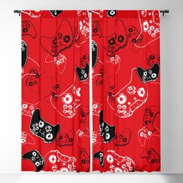 Video Game Red Blackout Curtain