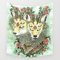 guardians Wall Tapestries featuring Guardians of the Inbetween by - KILLVERS -