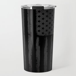 Grey American flag Travel Mug