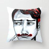 gentleman Throw Pillows featuring gentleman by sladja