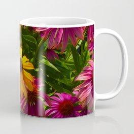 Coneflowers, Floral wall art, colorful flower blooms Coffee Mug