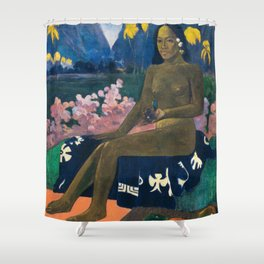 The Seed of the Areoi by Paul Gauguin Shower Curtain