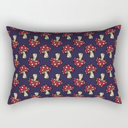 Midnight Fall Toadstools on Navy Blue Rectangular Pillow