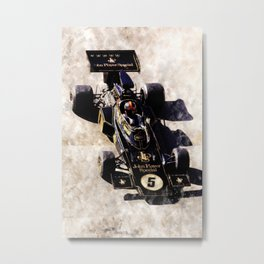 Emerson Fittipaldi on Lotus Metal Print