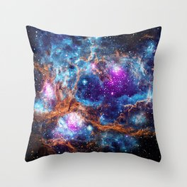 Lobster Nebula Throw Pillow