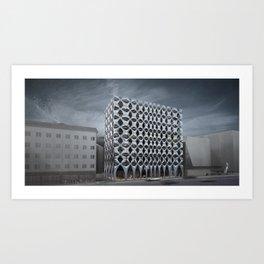 Bolzano administrative building Art Print