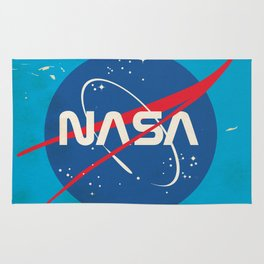 Enlist to become an Astronaut! Vintage nasa poster Rug