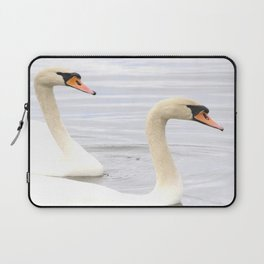 Together Forever - Swans #decor #society6 Laptop Sleeve