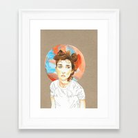 plain Framed Art Prints featuring Plain Jane by Kim Wells