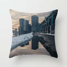 NYC relection Throw Pillow