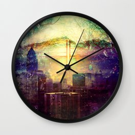 Abstract City Scape Wall Clock