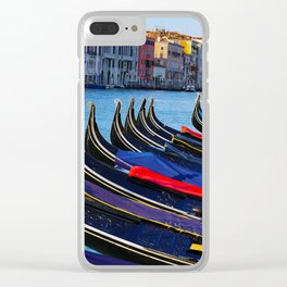 Venice canals, Gondolas, palace in Venice, Travel to Venice, Italy Clear iPhone Case