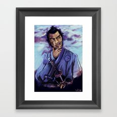Toshiro Mifune digital painting. Framed Art Print