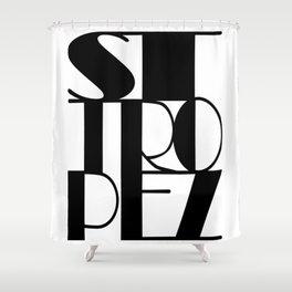 St. Tropez in black Shower Curtain