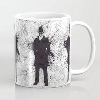 watchmen Mugs featuring WATCHMEN - RORSCHACH by Zorio