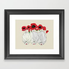 Poppy Girls Framed Art Print