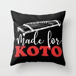 Koto music school sheet music teacher Throw Pillow