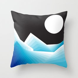 January Moon Throw Pillow