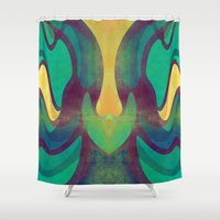 waves Shower Curtains featuring Waves by VessDSign