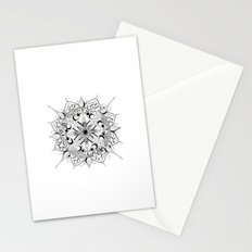 Mandala Art, India, Geometric, Tribal Art, Black and white Stationery Cards
