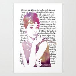 My Audrey Art Print