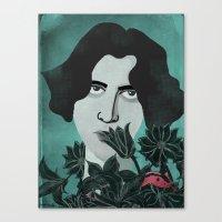 oscar wilde Canvas Prints featuring Oscar Wilde by Phantasmagoria