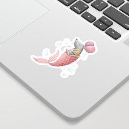 Mermouse Illustration Sticker