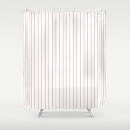 Alice Pink Pinstripe on White Shower Curtain